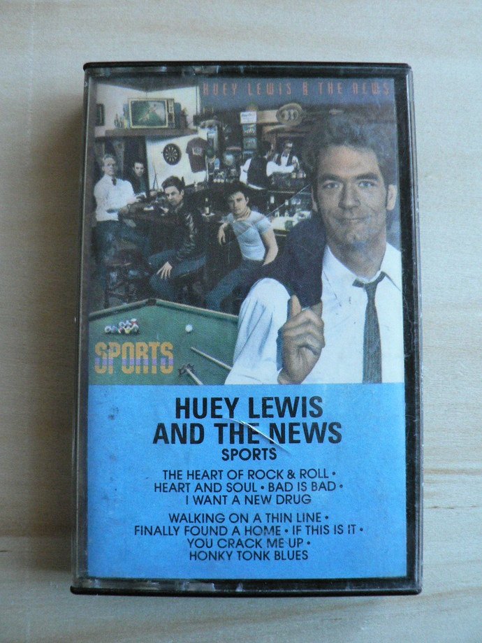 Huey Lewis and The News Sports Cassette Tape