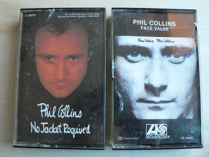 Phil Collins Cassette Tapes Lot of 2 No Jacket Required Face Value