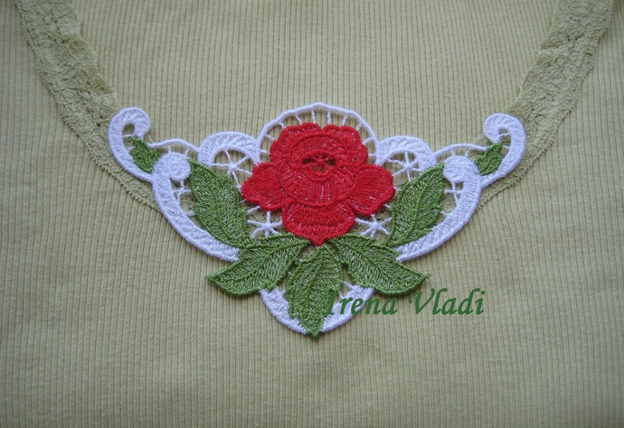 Lace Corner Rose Free Standing Lace Machine Embroidery design Instant Download