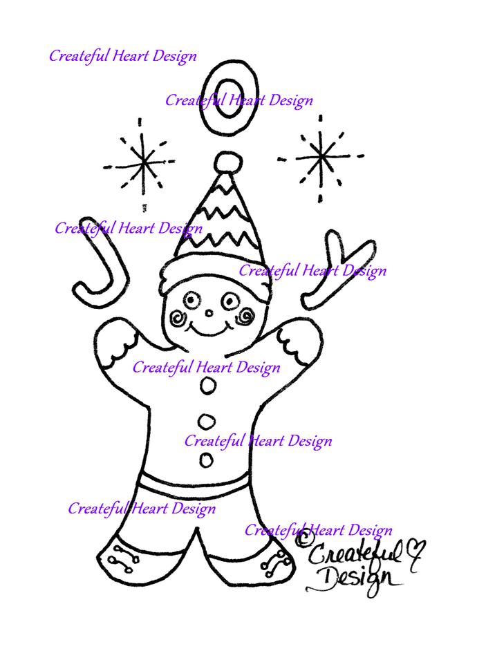 Gingerbread Joy , digital image