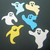 6pc Halloween Ghosts Metal Cutting Dies Set