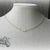Ainsleigh Necklace - Vintage Swarovski Dainty Gold Minimalist Choker - Opaque