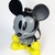 Disney Mickey Mouse In Grey With Yellow Shoes Bag Charm Keychain Key Ring - New