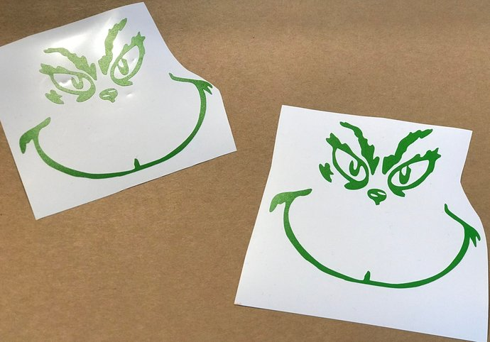 Grinch Decal / Sticker - Lime Outline / DIY Project / Christmas / Holiday / Gift