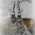 Rue - Czech Glass Faceted Beads - Rhinestones - Glass Pearls & Gray Flower