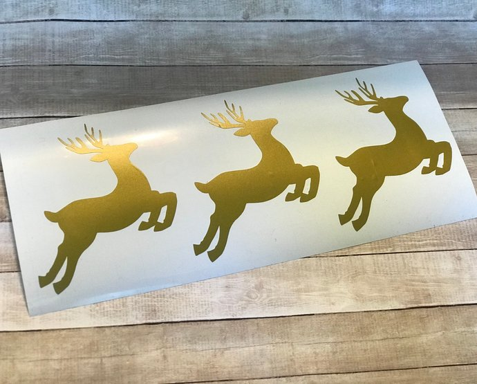 Reindeer Decal / Sticker / D.I.Y Project / Christmas / Holiday / Gift / Favors