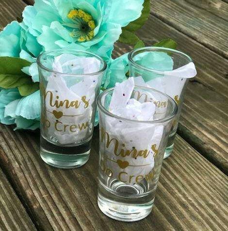 Set of 4 Personalized Shot Glasses / Birthday /  Bachelorette Party / Custom