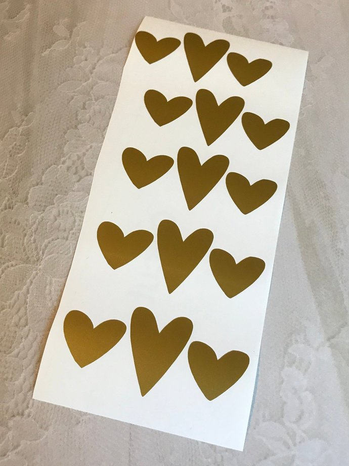 Romantic Heart Stickers / Decals - D.Y.I Project / Wedding / Decoration