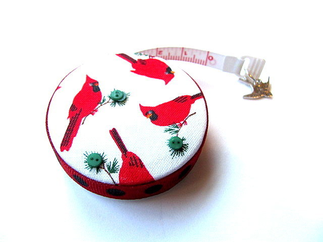 Small Tape Measure Cardinals Birds Retractable Measuring Tape