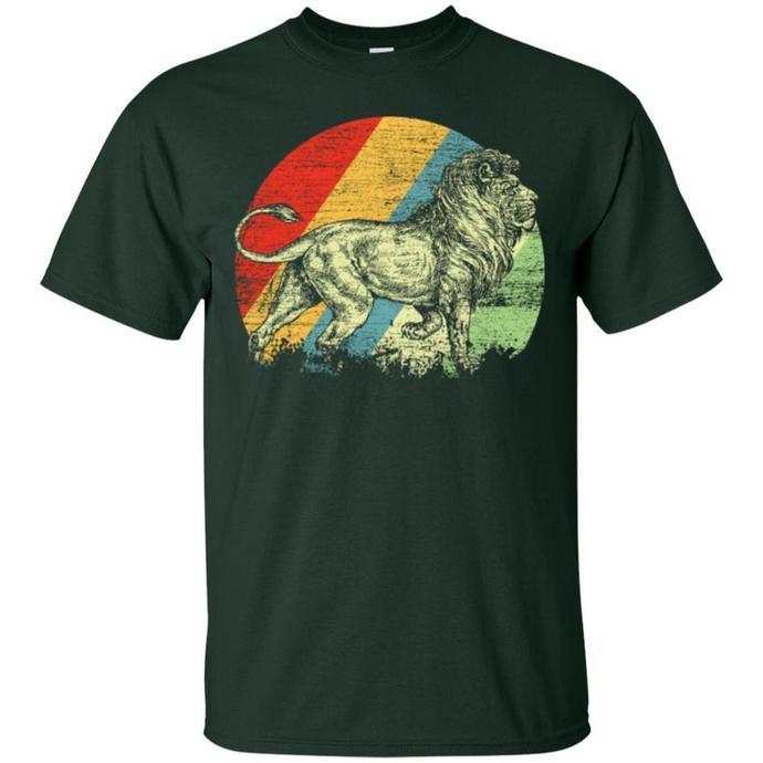 Lion Retro, King of Animal Men T-shirt, Retro Men T-shirt