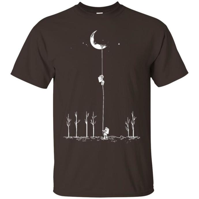 Astronauts Climbing The Moon Men T-shirt