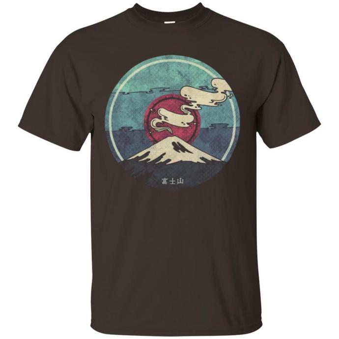 Mountain Fuji, Vintage Design Men T-shirt