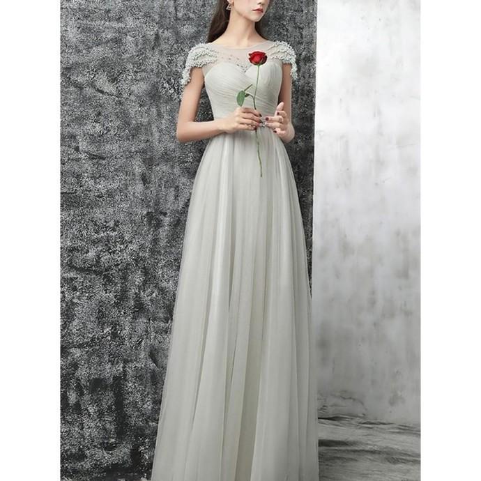 A-Line Prom Dresses, Long Prom Dresses