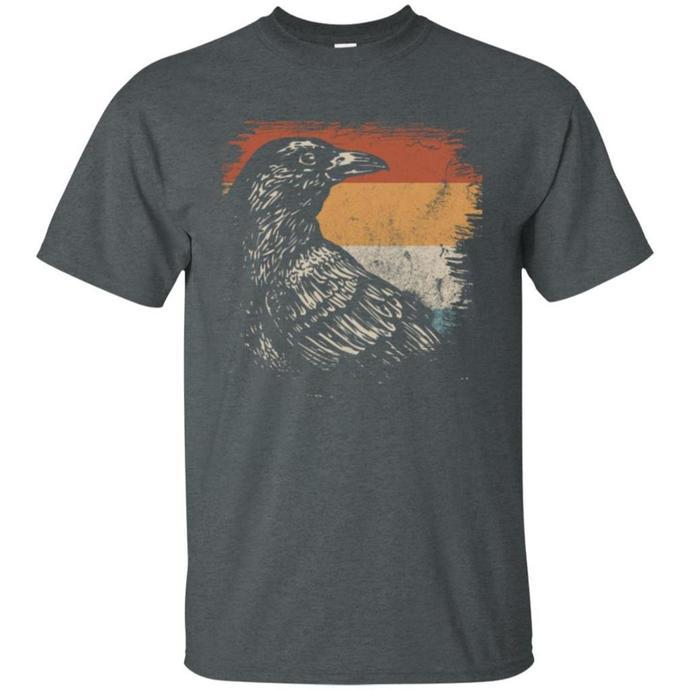 Crow Retro, Vintage Crow Men T-shirt, Crow Retro T-shirt
