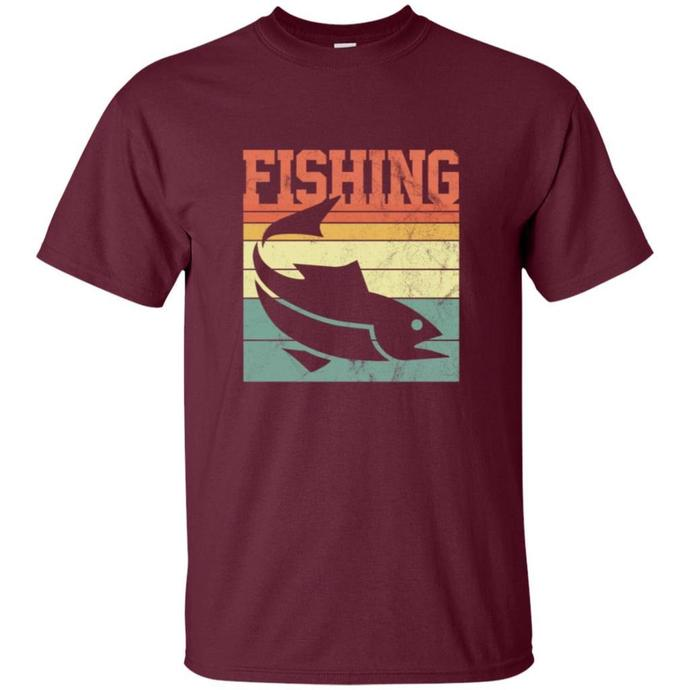 Fishing Retro Men T-shirt, Retro T-shirt, Fishing Retro Tee