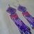 Native American style Brick Stitched Lavender,Pink and Purple Geometric Earrings