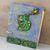 Fiery Green Dragon Journal - refillable blank book - 4x5