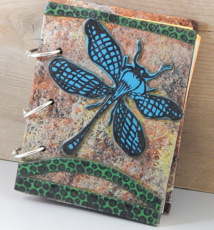 Dragonfly Flight Journal - refillable blank book - 4x5