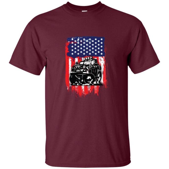 Jeep American Flag Men T-shirt, American Flag T-shirt