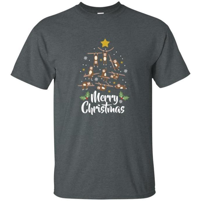 Christmas Sloth Men T-shirt, Merry Christmas T-shirt, Christmas Sloth Tee