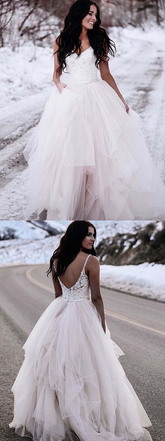Sexy Tulle Appliques Wedding Dresses, Formal Wedding Party Gown
