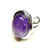 Purple Amethyst Classic Semi-precious Gemstone Adjustable Ring 23 x 17mm