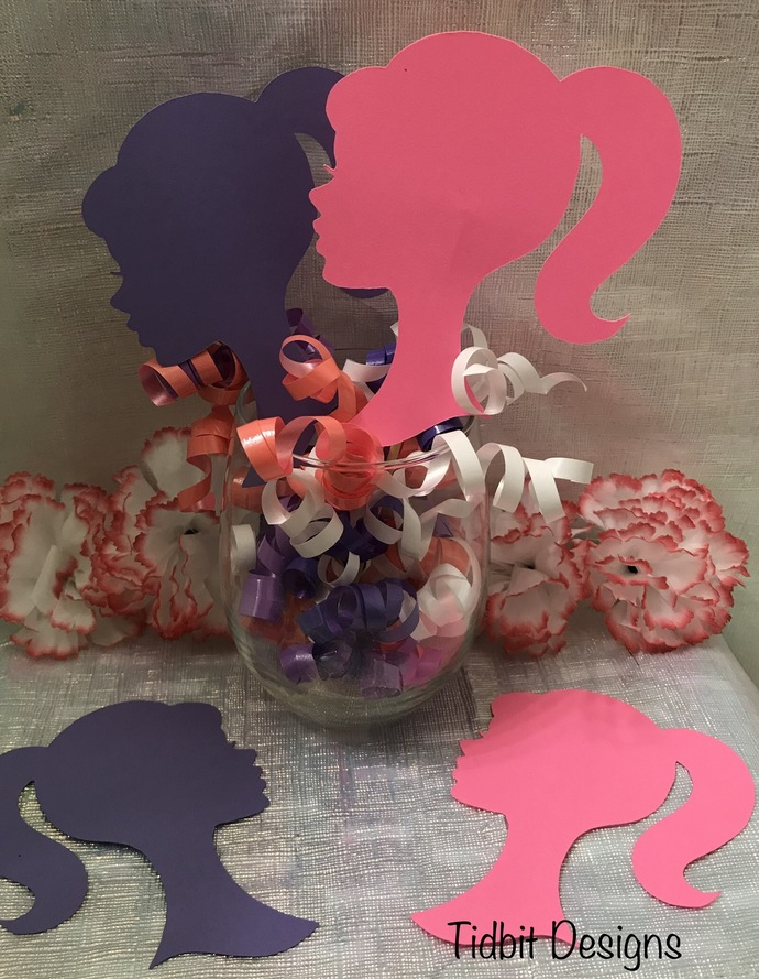 Large  Barbie Silhouette Cut Outs / Die Cut / Many Colors/ Many Sizes