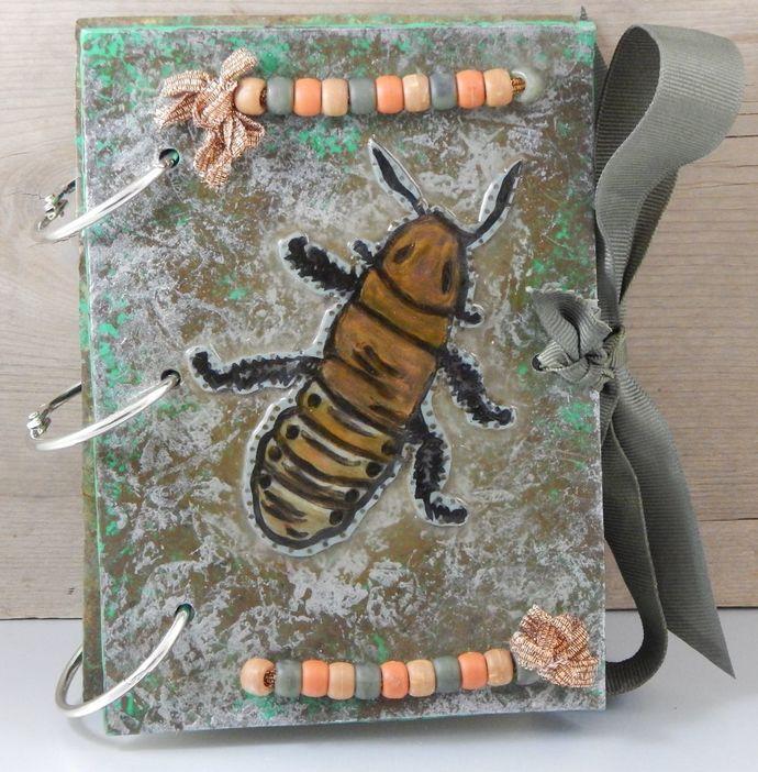 Madagascar Hissing Cockroach Journal - refillable blank book sketchbook