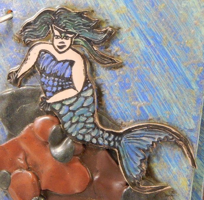 Mermaid Beauty Journal - Refillable Blank Book - Sketchbook - Scrapbook - 4x6