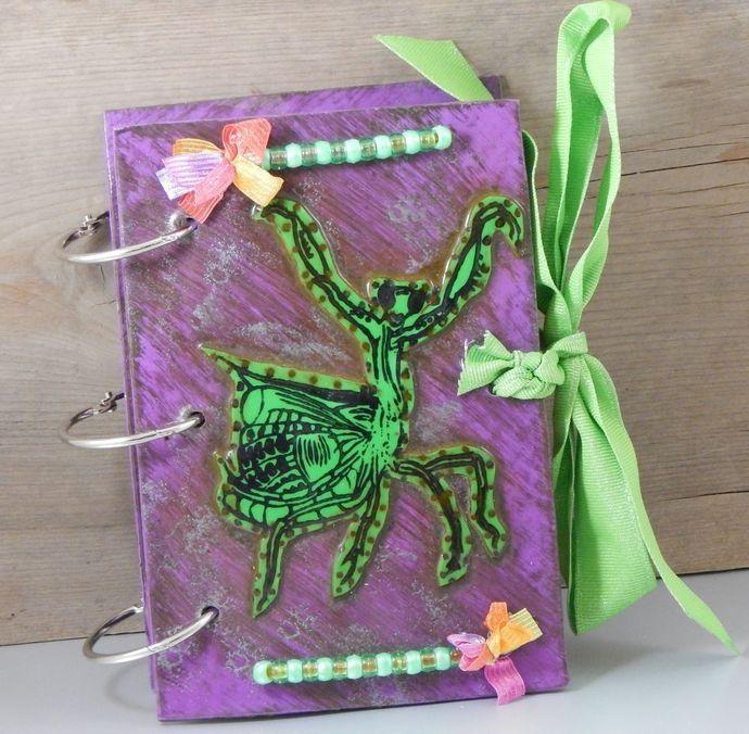 Praying Mantis Jazz Hands Journal - Refillable Blank Book - Sketchbook -