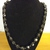 #092 Black Bead Necklace