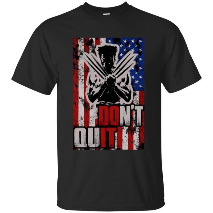 Wolverine - Don't Quit Men T-shirt, American Men T-shirt, American Flag T-shirt