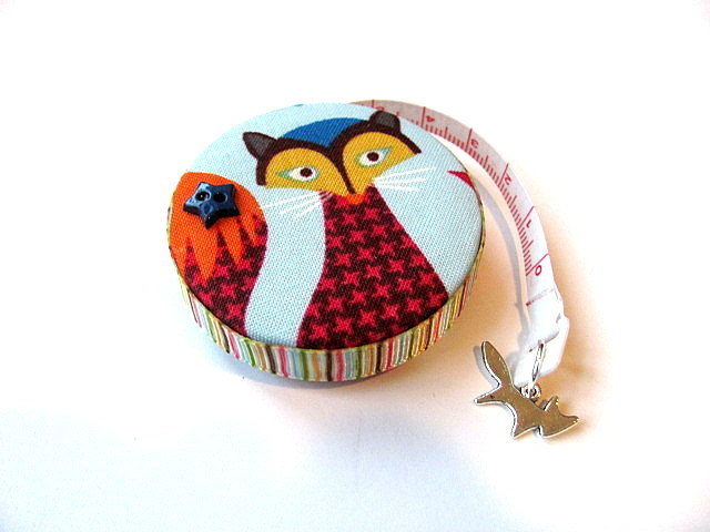 Measuring Tape Pattern Print Foxes Retractable Tape Measure