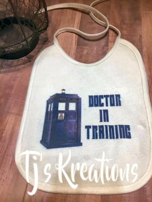 Doctor in Training baby bib