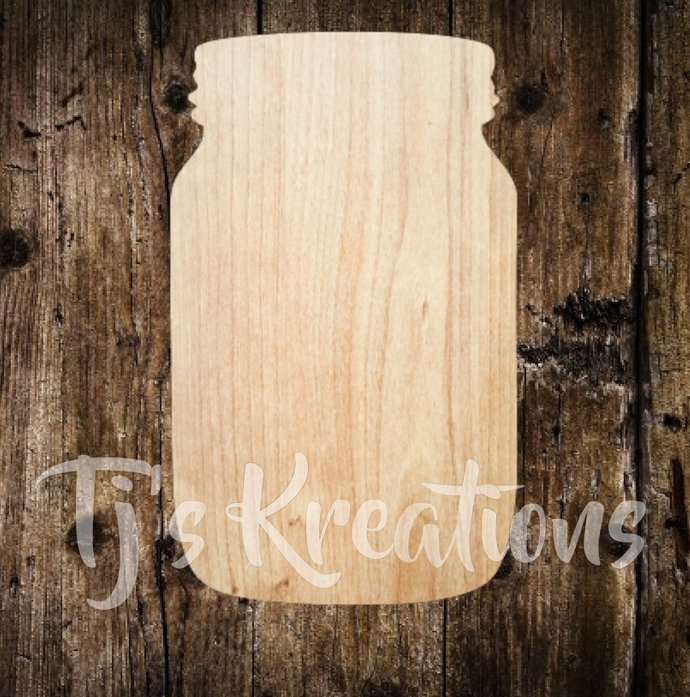 Mason Jar Unfinished Wood Create Diy Door Hanger Ornament