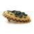 Vintage Christmas Tree Matte Resin Cameo Brooch, Holiday Pin, Christmas Jewelry,