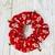 Gingerbread Men Jingle Bells Red Multicolor Scrunchie New