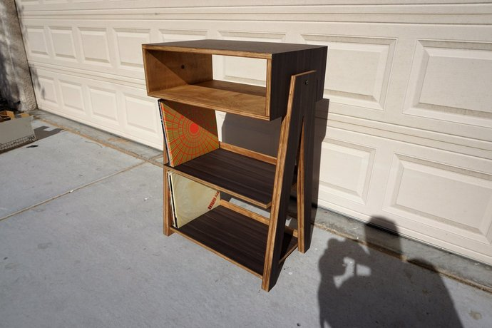 Record Player Stand And Vinyl Display With By Dkvinyl On Zibbet