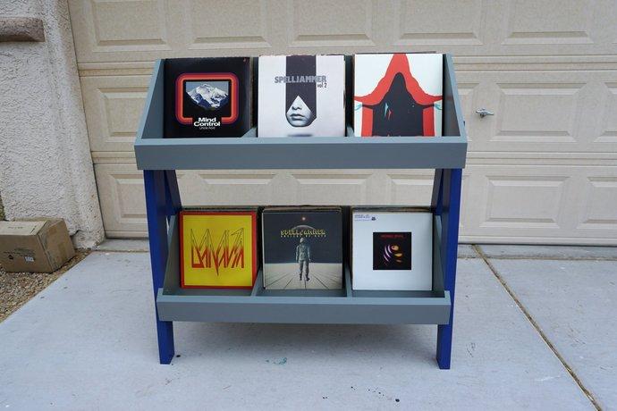 Customizable Vinyl Record Stand and display, filp foward design