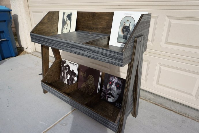 Fully Customizable Record Player and Vinyl Storage Entertainment Unit