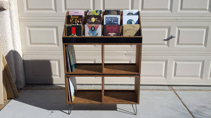 Charmant Fully Customizable Vinyl Record Shelving/display Unit