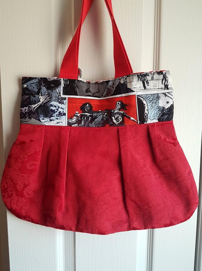 Walking Dead Purse Bag - Michonne & Red Brocade