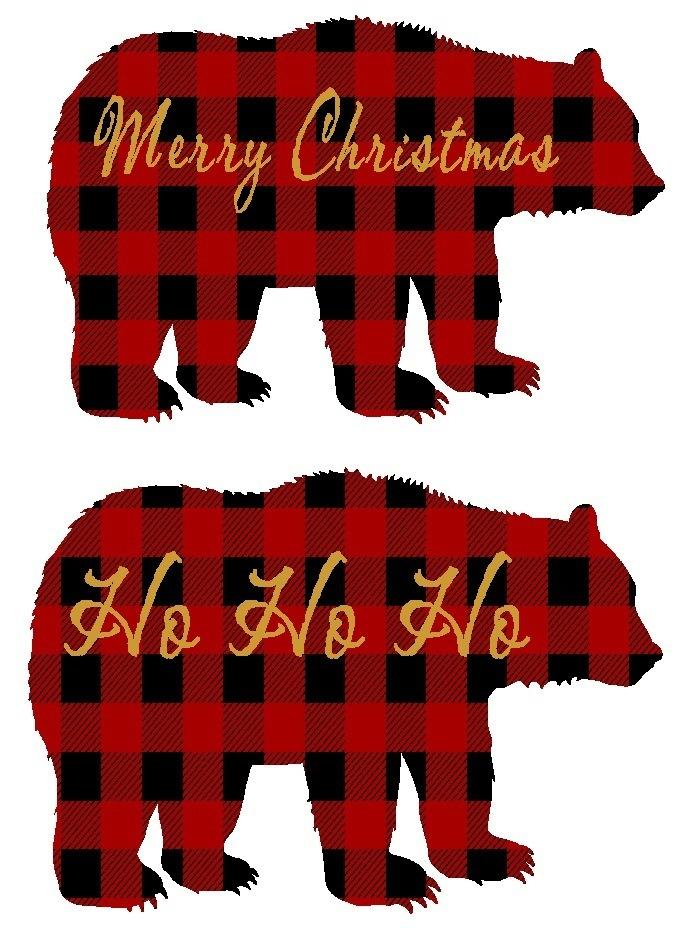 Christmas Bears Merry Christmas , ho ho by Best Little Shop on