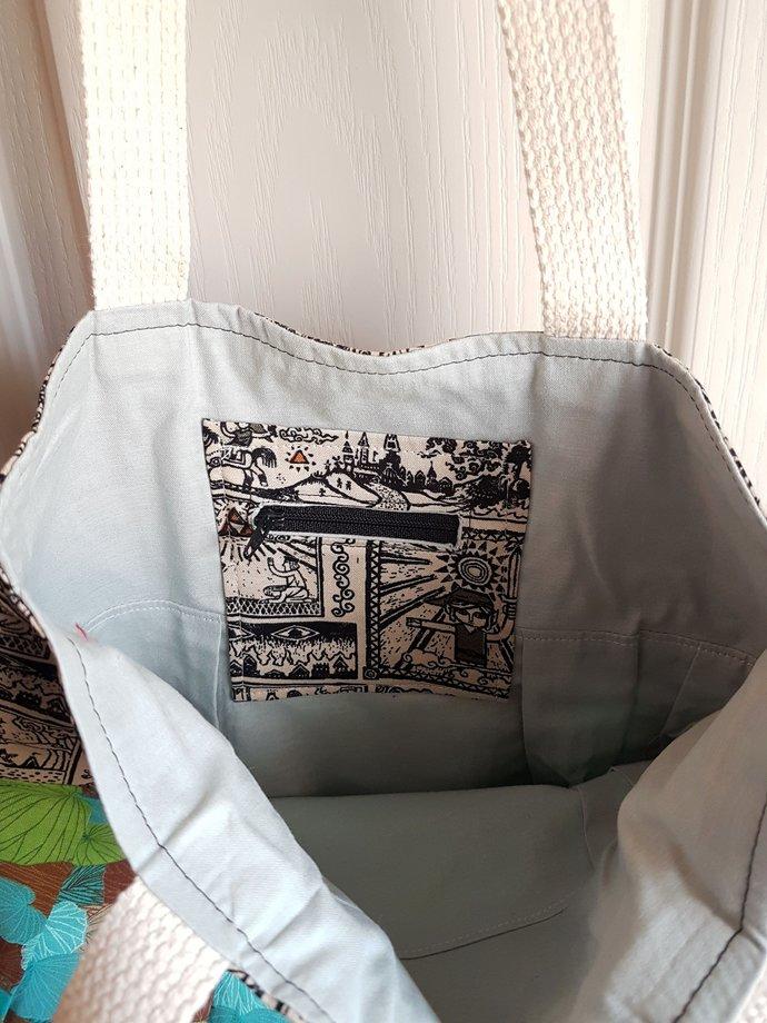 Legend of Zelda Purse Bag - Link Hieroglyphs Tri-Force Fabric