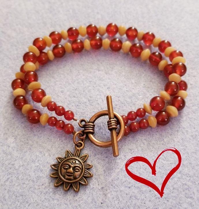 Double Strand Beaded Bracelet