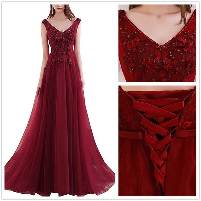 3822f9968d8 Newest Red Floor-length V-neck Back strap Beading applique elegant backless  long