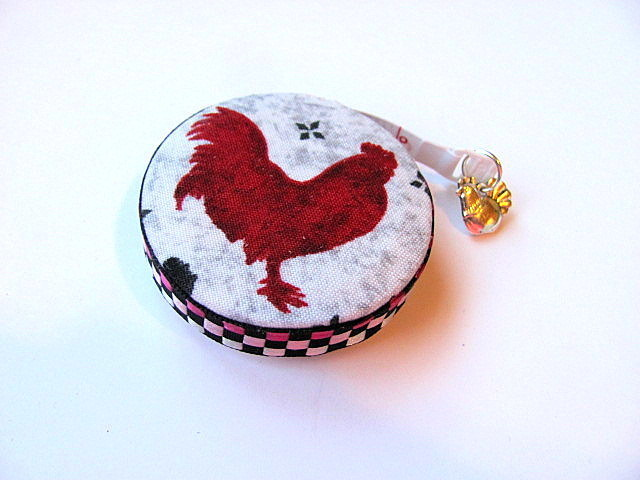 Tape Measure with Black and Red Chickens Retractable Measuring Tape