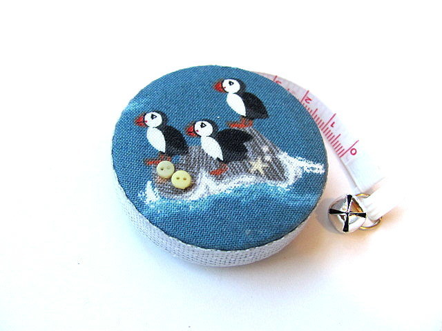 Retractable Tape Measure Puffin Birds Pocket Measuring Tape