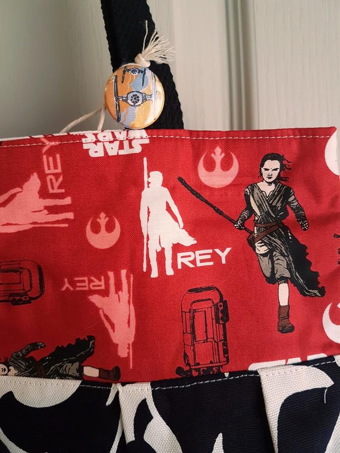Star Wars Rey Handmade Purse Bag - Red, Black & White