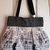 Retro Gaming Geek Video Game Controllers Tote Bag Purse - Grey Tweed & Cotton